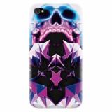 Husa silicon pentru Apple Iphone 4 / 4S, Abstract Framed Skull