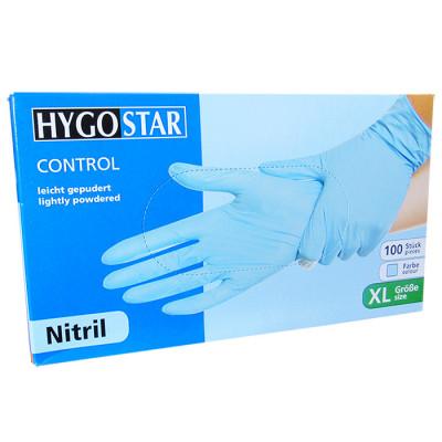 Manusi nitril Control marimea XL, albastre, 100 bucati/cutie, usor pudrate foto
