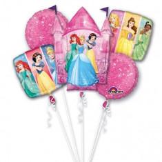 Buchet Baloane Printese Disney, Amscan 33931, set 5 bucati