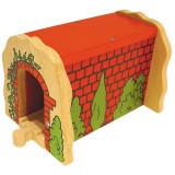 Tunel imitatie caramida, 13 x 17 x 13 cm, 3 ani+, Bigjigs