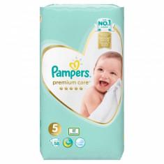 Scutece Pampers Premium Care 5 Jumbo Pack, 58 buc/pachet
