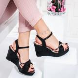 Sandale dama cu platforma negre Yulisa