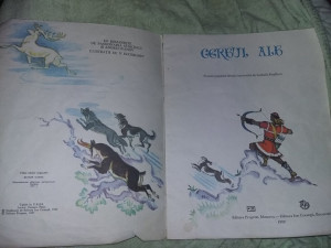 carte veche Povesti copii,CERBUL ALB - POVESTE POPULARA,ilustratii,T.GRAT