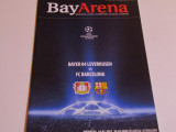 Program meci fotbal BAYER 04 LEVERKUSEN-FC BARCELONA(Champions League 2012)