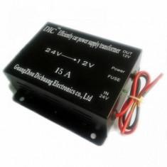 Convertor auto 24V - 12V 15A