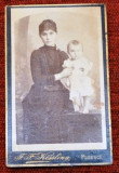 Fotografie atelier celebru KISSLING , PLOEST ,anii 1880.Mama cu prunc.