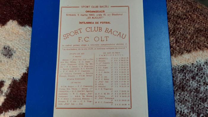program SC Bacau - FC Olt