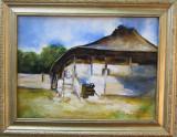 Tablou casa semnat Cimpoesu dupa Grigorescu