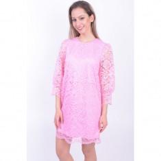 Rochie Dantela Vero Moda Aberdeen 3/4 Lace Prism Pink