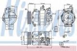 Compresor clima / aer conditionat SKODA OCTAVIA II Combi (1Z5) (2004 - 2013) NISSENS 89211