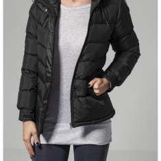 Sireturi ladies bubble jacket - negru Urban Classics M EU