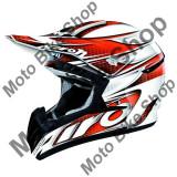 MBS Casca motocross Airoh Cr901 Linear=Crli32, portocaliu, M=57-58, Cod Produs: CR1LI32MAU