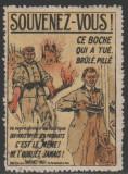 1919 Franta - Vigneta anti-germana slogan nationalist, vinieta straina MNH, Posta, Nestampilat
