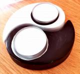Suport lumanare ying-yang din ipsos, handmade