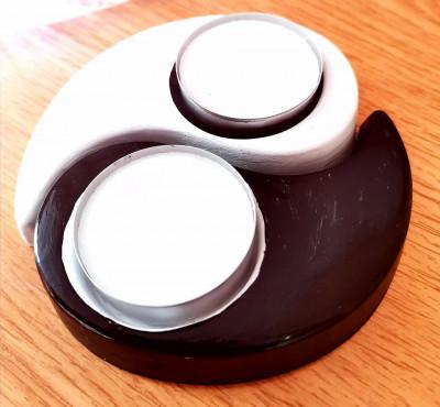 suport lumanare ying-yang din ipsos, handmade foto