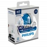 Set 2 becuri Philips H7 WhiteVision 12V 55W + BONUS 2 becuri W5W WhiteVision 12972WHVSM