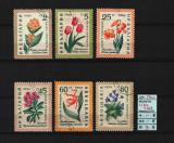 Timbre Bulgaria, 1960 | Flori de grădină, plante | Serie completă, Flora, Stampilat