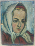 Portret de taranca// Nicolae Brana, ulei pe carton