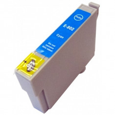 Cartus Epson T0802 compatibil cyan de capacitate mare, Original