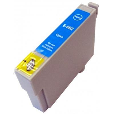 Cartus Epson T0802 compatibil cyan de capacitate mare foto