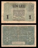 Bancnote România, bani vechi 50, 10 bani 1917-Ferdinand