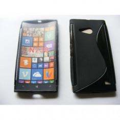 Husa silicon S-line Nokia Lumia 730 / 735 Negru