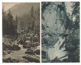 SV *  Cascade in Muntii Carpati  *  1917  *  CADEREA LOTRULUI  *  CASCADA BULEA, Sibiu, Circulata, Necirculata, Fotografie, Printata
