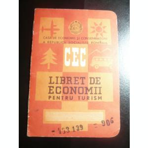 Carnet de CEC pentru Turism , RSR , inseriat