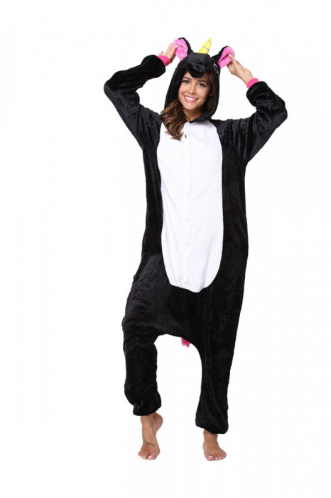 PJM64-1122 Pijama intreaga kigurumi, model unicorn