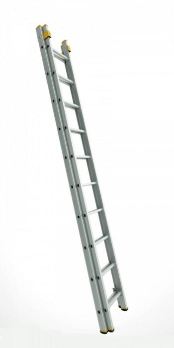 ALVE Scara profesionala Forte Plus cu doua tronsoane culisanta - varianta largita 2x10 trepte 88710000