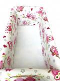 Cumpara ieftin Aparatori laterale protectii pat 120x60 cm Deseda Maxi Vise jucause roz