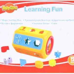Jucarie de sortat Learning Fun, 12 forme, 25 x 40 cm, 12 luni+