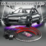 Cumpara ieftin Set 4 benzi lumini LED RGB tuning masina SuperBright 8 culori telecomanda +CADOU