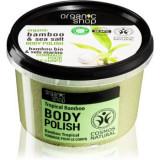Organic Shop Organic Bamboo & Sea Salt exfoliant energizant pentru corp