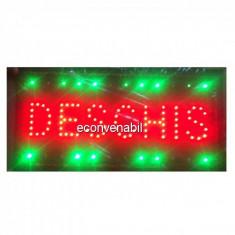 Reclama Luminoasa LED Deschis 50x25cm Rosu Verde