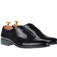 Pantofi barbati lacuiti, eleganti din piele naturala - CARLOS 026NLAC