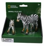 Set 2 figurine Zebra