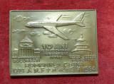 Medalie aviatie Tarom linia aeriana Bucuresti - Beijing - Romania & China 1984