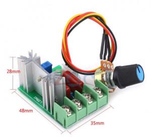 Variator tensiune Regulator turatie motor dimmer 220V 2000W