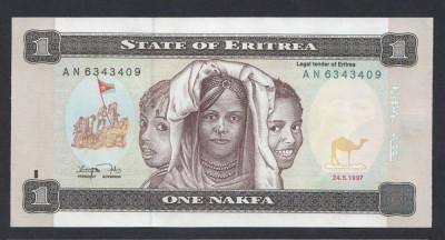 A3035 Eritrea Eritreea 1 nakfa 1997 UNC foto