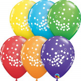 "Baloane latex 11""/28 cm inscriptionate confetti, Qualatex 52964"