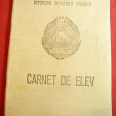 Carnet de Elev RSR cl.IIa 1976 ,coperti cartonate si panzate