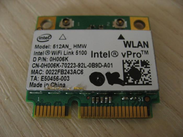 Placa wireless laptop Dell Latitude E6400, Intel WiFi Link 5100, 512AN_HMW