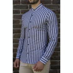 Camasa gri alb - camasa slim fit camasa barbat LICHIDARE STOC cod 195