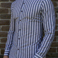 Camasa tunica - camasa slim fit camasa in dungi camasa barbat camasa de vara, L, S, XL, XXL, Maneca lunga, Din imagine