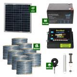 Pachet Gard electric Animale Sălbatice 6,6J putere cu Sârmă 8000m și Panou Solar