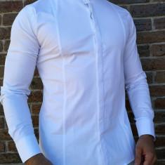 Camasa tunica alba- camasa tunica camasa barbat camasa slim #212