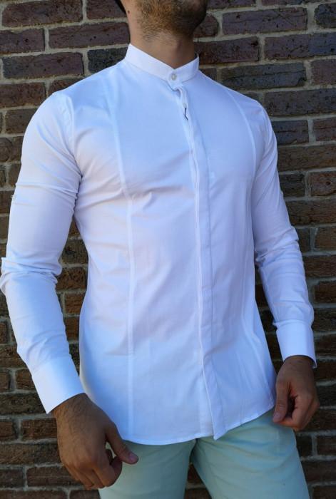 Camasa tunica alba- camasa tunica LICHIDARE STOC camasa slim #212