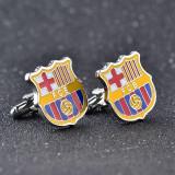 Set butoni tema sportiva echipa  fotbal FC Barcelona si ambalaj cadou