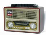 Cumpara ieftin BOXA PORTABILA MP3 PLAYER,USB,RADIO FM,ACUMULATOR,DESIGN VINTAGE,SUNET HI FI.NOU